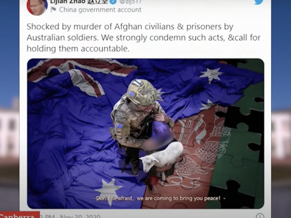 Australia-China relations hit rock bottom after provocative tweet by senior Communist Party official